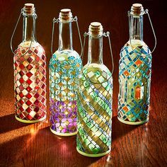 Pin On Glass Bottle Crafts
