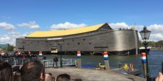 Eventually, this Noah's Ark replica will find it's way to San Diego harbor on it's way to Brazil, for the Olympics....