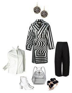 """""""B&W&silver"""" by perfectforyou ❤ liked on Polyvore featuring Dries Van Noten, Camilla Elphick, MCM, Issey Miyake and Panacea"""