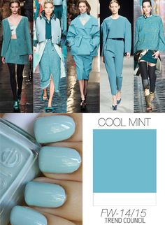 """must-have colors for fall: cool mint (which I notice in these pictures is much more blue than the """"mint"""" that was trendy previously)"""