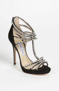 Jimmy Choo Kera Crystal Sandals
