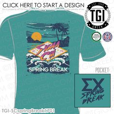 Sigma Chi | ΣX | Spring Break | Spring Break Shirt | Fraternity Spring Break | TGI Greek | Greek Apparel | Custom Apparel | Fraternity Tee Shirts | Fraternity T-shirts | Custom T-Shirts