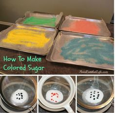 How to make homage color sugar