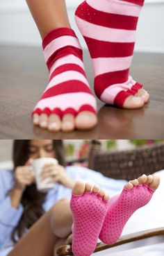 Poised for yoga perfection: No-slip grip for traction and bare toes for tactile feel. Great got Yoga and Pilates lovers.