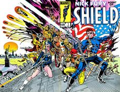 Nick Fury, Agent Of SHIELD #1, december 1983, cover by Jim Steranko.