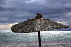 Beach Umprella #Greece #Europe #Travel #Sunset #Surfing