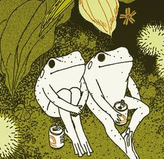new FROGGY PRINT available in my INPRNT store link in bio. Note amphibians don't need to social distance I'm like 90 percent sure the virus… Dessin Old School, Arte Indie, Japon Illustration, Arte Obscura, Frog Art, Cute Frogs, Hippie Art, Psychedelic Art, Aesthetic Art