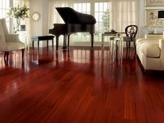 I want these red wood floors and love the grand piano