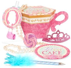 Who knew they made stuff like this for the wee ones?! Super cute...maybe for the pint-size divas at the Shower?  Let Them Eat Cake Party Favor Box from BirthdayExpress.com