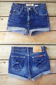 High Waisted shorts with Bows. via Etsy.