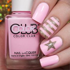 Adorable looking glitter nail art design in posh pink colors and wonderful silver glitter in stars and stripes. latest nail art designs gallery elegant nail designs for short nails essie nail stickers nail art stickers how to apply essie nail stickers Pink Sparkly Nails, Silver Glitter Nails, Glitter Nail Art, Pink Glitter, Nail Art Designs, Pretty Nail Designs, Short Nail Designs, Nails Design, Spring Nail Art