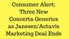 Three Concerta generics are slowly making their way into consumer hands, and already I'm hearing negative reports. This post provides a quick run-down. Please leave a comment if you have useful information. Perspective Taking, Adhd Medication, Working Memory, Academic Success, Executive Functioning, Self Regulation, Self Control, Critical Thinking, Nervous System