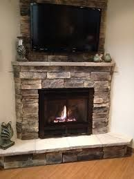 Image result for corner gas fireplace surround ideas