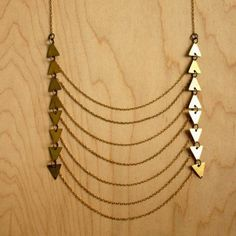 Geometric Bib Necklace now featured on Fab.