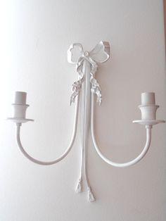 SHABBY CHIC applique vintage decorate color bianco