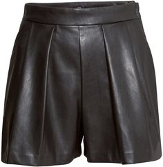 H&M Imitation Leather Shorts - Black - Ladies on shopstyle.com