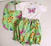 Baby Girl Gift Set-Green Butterfly 3 Piece Set--0-3M--  Togs4Tots  #thecraftstar