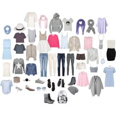 Capsule wardrobe for soft cool light summer color type with rectangle body shape. Cool Summer Palette, Summer Colors, Capsule Wardrobe Women, Summer Wardrobe, Soft Summer, Summer Outfits, Style Inspiration, Spring, My Style