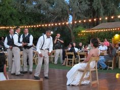 """Garter removal at Our """"Rustic Elegance"""" Wedding"""