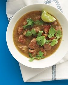 This pork chile verde is the best, 4 ingredients plus garnishes. We've made it three times already.