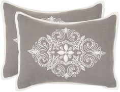 Rochelle Embroidered Pillow (Set of at Joss and Main Cushion Embroidery, Machine Embroidery, Hand Embroidery, Embroidered Cushions, Linen Pillows, Decorative Pillows, Throw Pillow Sets, Throw Pillows, Soft Furnishings