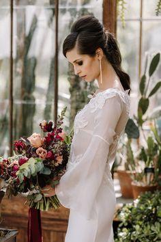 Sense and Sensuality Moody Event Design in a Botanic Garden Romantic Wedding Hair, Beautiful Wedding Venues, Autumn Wedding, Romantic Weddings, Unique Weddings, Wedding Flowers, Wedding Designs, Wedding Styles, Wedding Planner Uk
