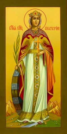 Saint Catherine of Alexandria Raphael Angel, Archangel Raphael, Religious Icons, Religious Art, St Catherine Of Alexandria, Faith Of Our Fathers, Paint Icon, Byzantine Icons, Albrecht Durer