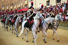 Parade before the Palio, Siena.