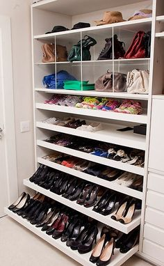 Is your closet overflowing? Here are closet storage ideas to help you gain more control over your closet space. Closet Walk-in, Closet Hacks, Closet Space, Closet Ideas, Ikea Closet Hack, Closet Mirror, Cheap Closet, Shoe Storage Cabinet, Closet Storage