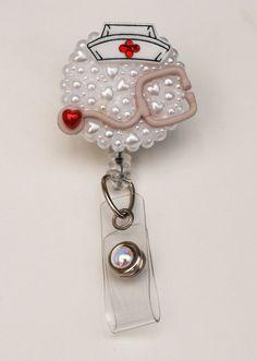 All For Nurses ID Badge Reel RN ID Badge Holder by ZipperedHeart