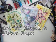 How to Break A Blank Page Mixed Media Art Journaling part5