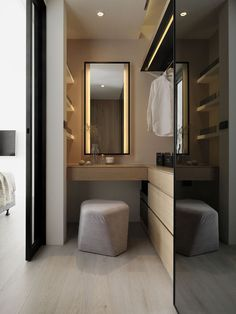 I've been spotting some fantastic DIY vanity mirror recently. Here are 17 ideas of DIY vanity mirror to beautify your room White Bathroom Designs, Room Design, Trendy Bathroom, Closet Designs, White Bathroom, Amazing Bathrooms, Room Closet, Dressing Room Design, Bathroom Design