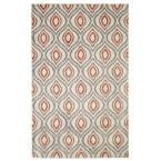 Ogee Waters Coral (Pink) 8 ft. x 10 ft. Area Rug