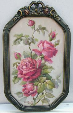 in the title below this painting, christie has indicated that she copied klein. in the title below this painting, christie has indicated that she copied klein. i would like to see this continue. Rose Cottage, Shabby Cottage, Cottage Chic, Vintage Shabby Chic, Shabby Chic Style, Vintage Roses, Paintings I Love, Original Paintings, Romantic Cottage