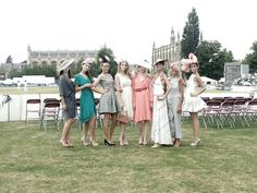 Models from our fashion show at Cheltenham Cricket Festival (styled by me)