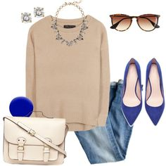 A fashion look from December 2013 featuring rag & bone sweaters, J.Crew jeans and Zara pumps. Browse and shop related looks.