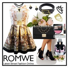 """""""ROMWE 10"""" by ziandra ❤ liked on Polyvore featuring Yves Saint Laurent and Bobbi Brown Cosmetics"""