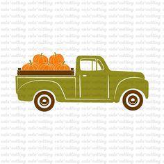 Truck with pumpkins svg Halloween Harvest Thanksgiving svg