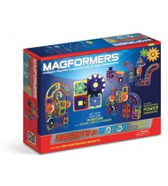MAGFORMERS Magnets In Motion 83 Piece Power Gear Set