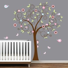 Vinyl Wall Decal Tree with LadybugsNursery Wall by Modernwalls, $99.00