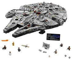 a4dd5d734b68 LEGO Ultimate Millennium Falcon Building Kit Largest Lego Set