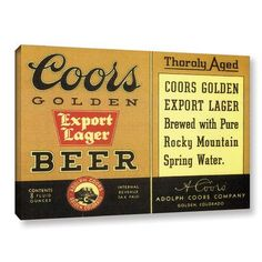 Red Barrel Studio Thoroly Aged Export Lager Vintage Advertisement on Gallery Wrapped Canvas Size: