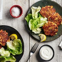 """Shrimp and Grits Fritters with fresh corn 