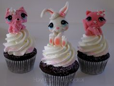 Littlest Pet Shop Cupcakes.I have i think almost all the lps in the world.(lps stands for littlest pet shop.)