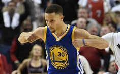 Stephen Curry #30 of the Golden State Warriors celebrates after hitting a shot during overtime of Game Four of the Western Conference Semifinals against the Portland Trail Blazers during the 2016 NBA Playoffs at the Moda Center on May 9, 2016 in Portland, Oregon. The Warriors won 132-125. NOTE TO USER: User expressly acknowledges and agrees that by downloading and/or using this photograph, user is consenting to the terms and conditions of the Getty Images License Agreement.