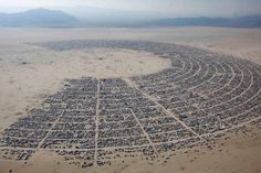 Arial view of Burning Man 2013 - (reuters)