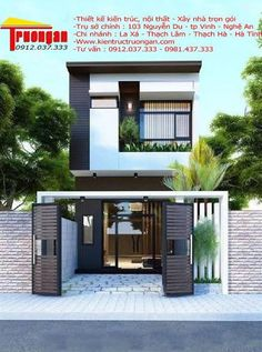Two-story houses you should see before designing yours - Decor Scan : The new way of thinking about your home and interior design Dream Home Design, Modern House Design, Style At Home, Villa, Narrow House, Duplex House, House Elevation, Story House, Facade House