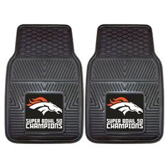 2 Denver Broncos Super Bowl 50 NFL Car Truck Floor Mat Carpet Rug #FanMats