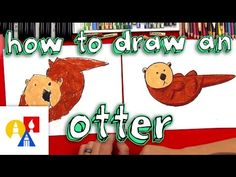 How To Draw An Otter With Shapes For Young Artists - YouTube