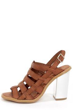 Sixtyseven 75936 Larissa Vachetta Brandy High Heel Sandals at LuLus.com!